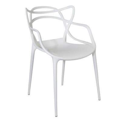 Silla COURVE plástico blanco - apilable