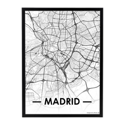 Lámina con marco CITY MAP MADRID 33x43